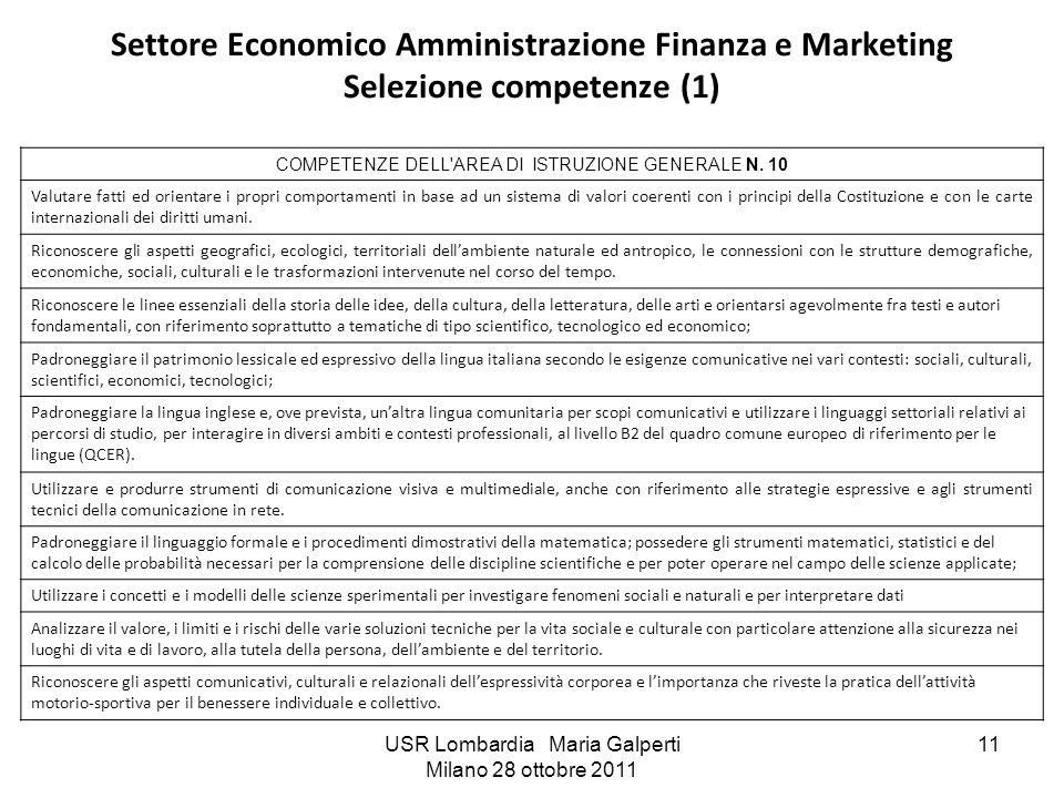 Settore Economico Amministrazione Finanza e Marketing Selezione competenze (1)