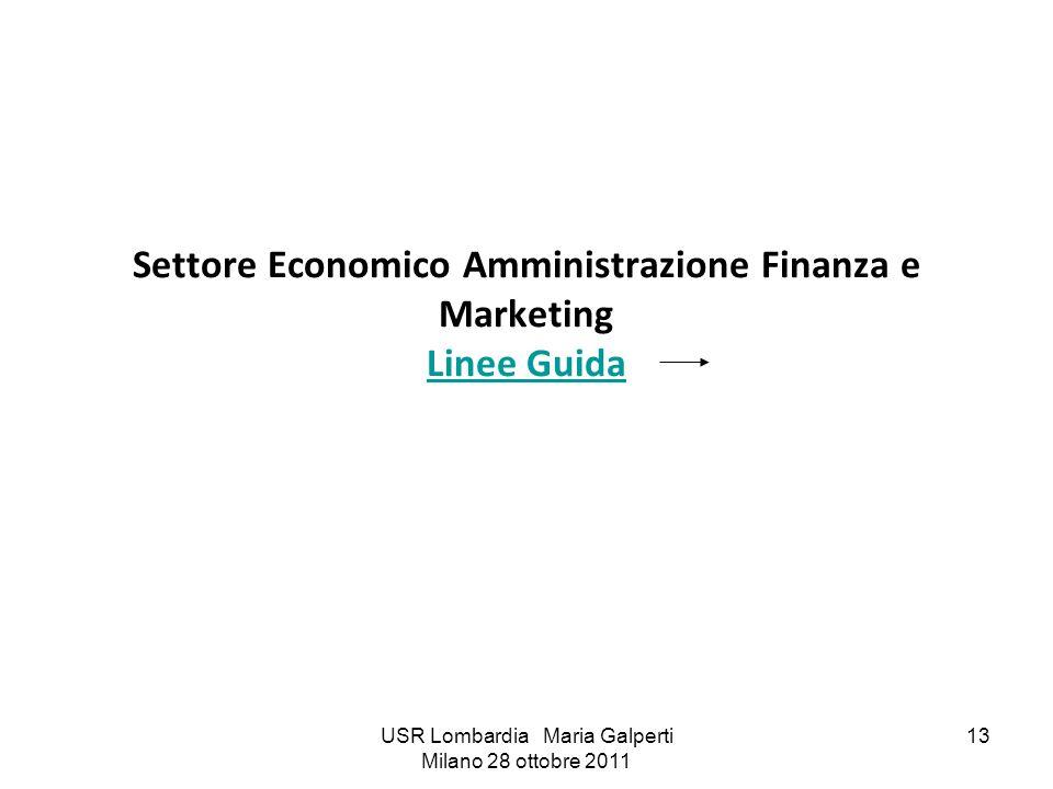 Settore Economico Amministrazione Finanza e Marketing Linee Guida