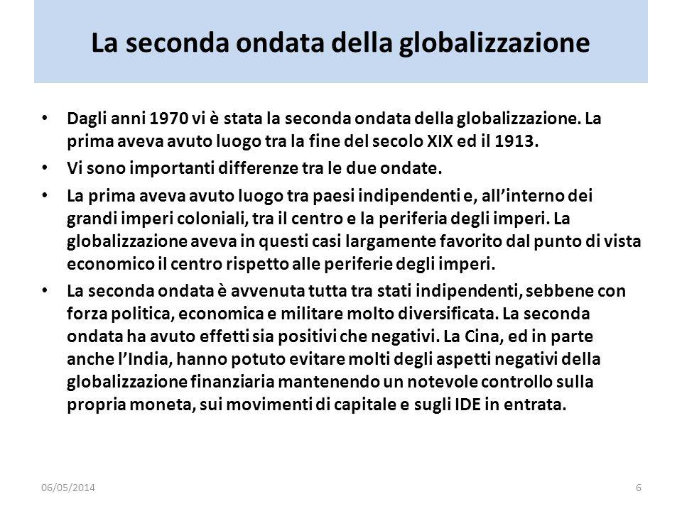 La seconda ondata della globalizzazione