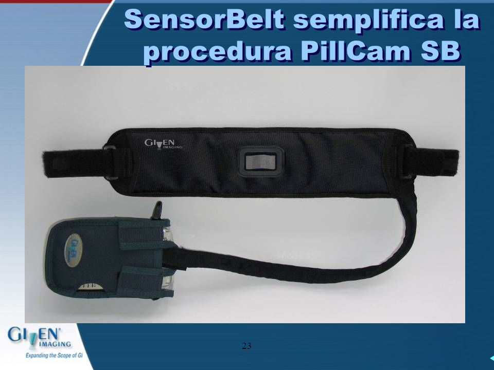 SensorBelt semplifica la procedura PillCam SB