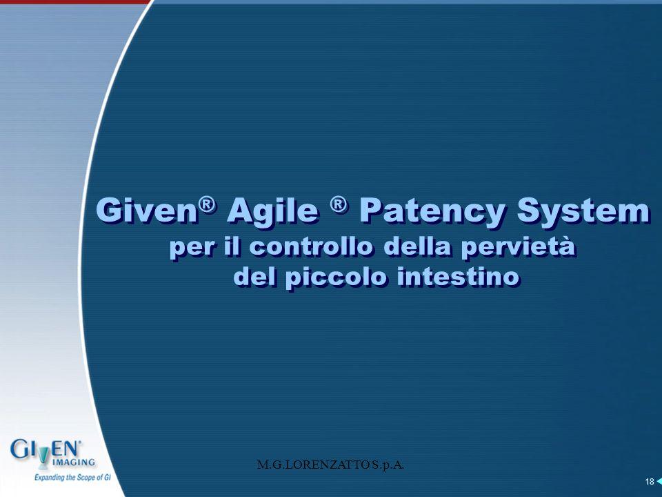 Given® Agile ® Patency System per il controllo della pervietà del piccolo intestino