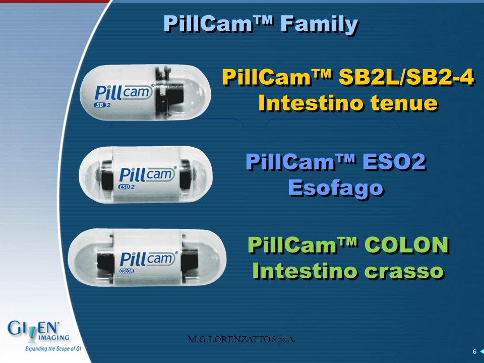 PillCam™ SB2L/SB2-4 Intestino tenue