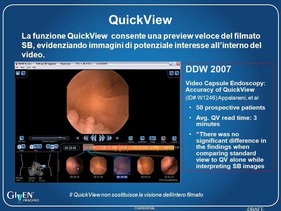 Il QuickView non sostituisce la visione dellíntero filmato