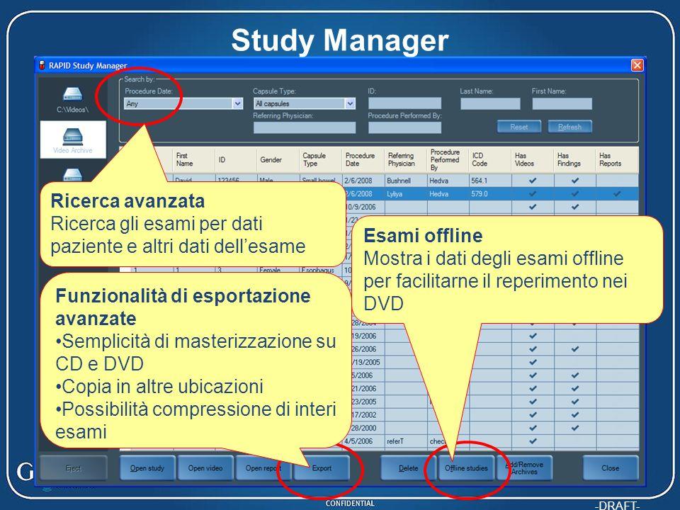 Study Manager Ricerca avanzata