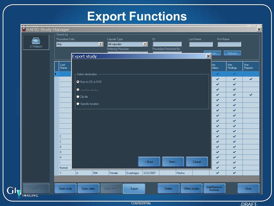 Export Functions