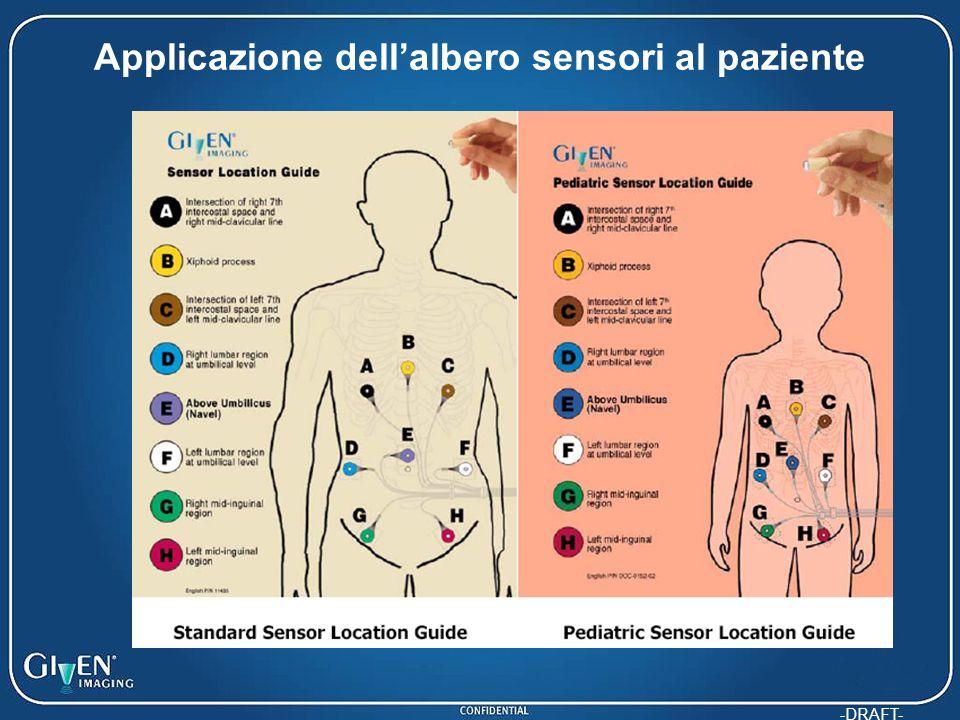 Applicazione dell'albero sensori al paziente