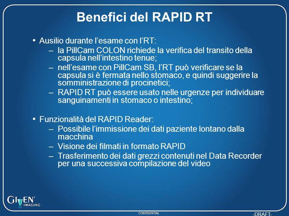 Benefici del RAPID RT Ausilio durante l'esame con l'RT: