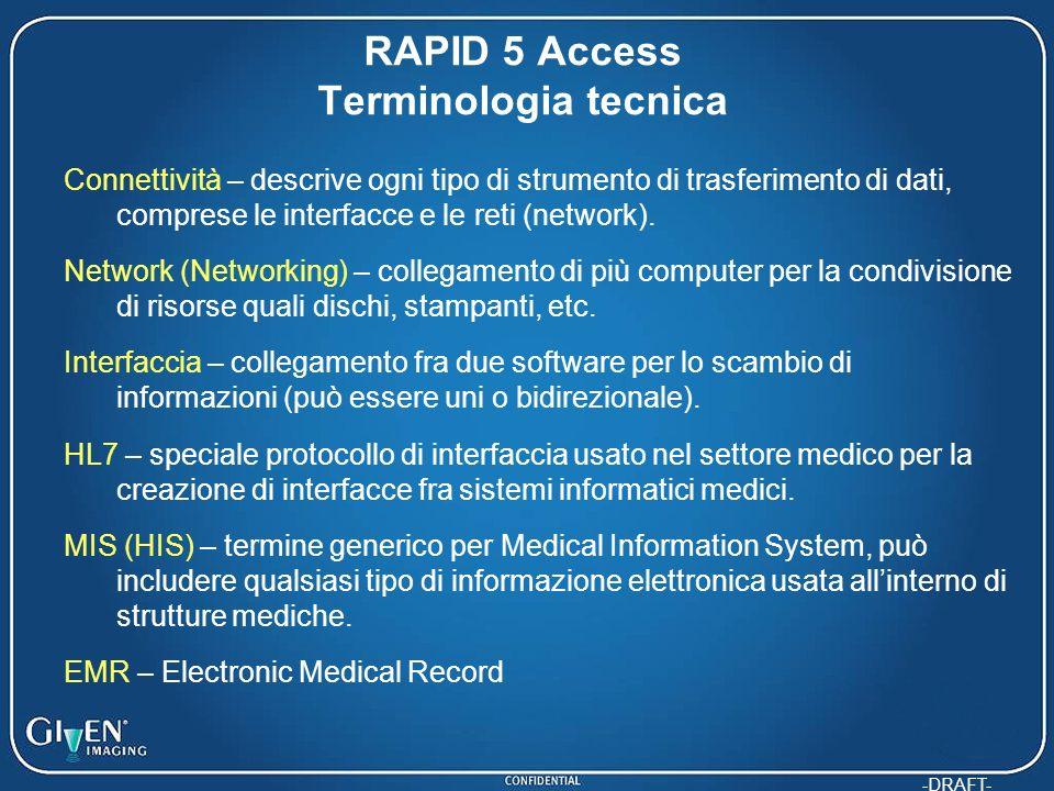RAPID 5 Access Terminologia tecnica
