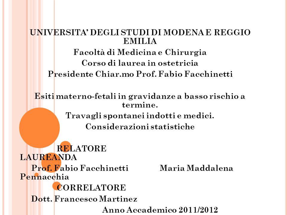 UNIVERSITA' DEGLI STUDI DI MODENA E REGGIO EMILIA