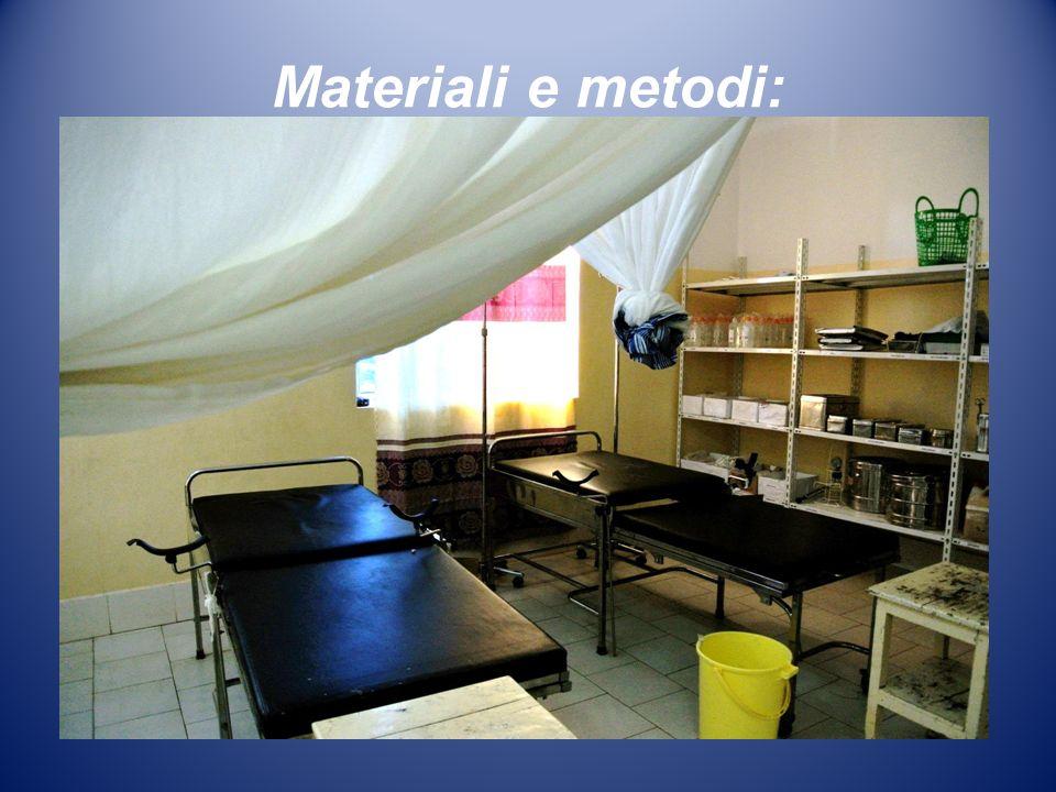 Materiali e metodi:
