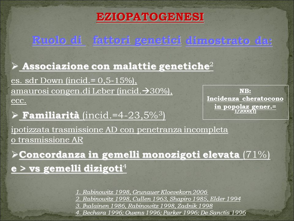 Incidenza cheratocono