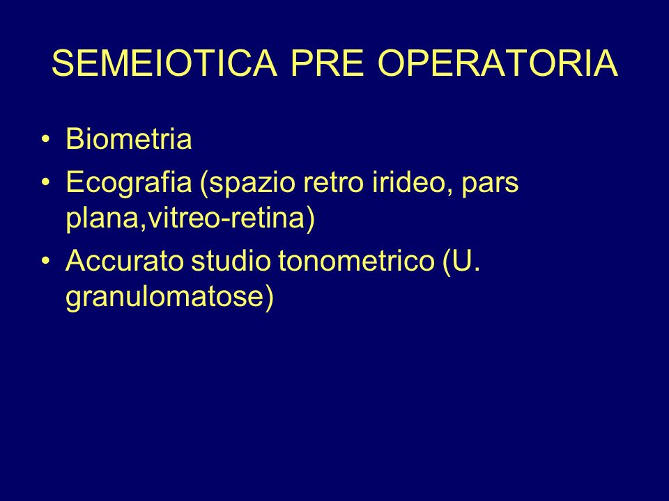 SEMEIOTICA PRE OPERATORIA