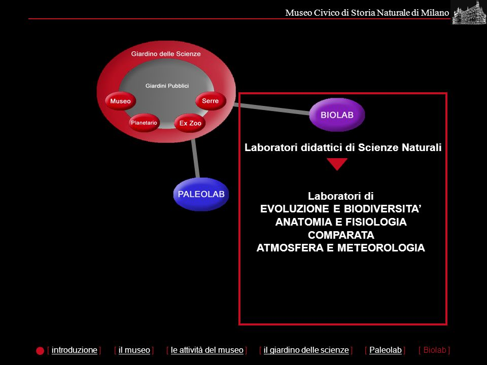 Laboratori didattici di Scienze Naturali