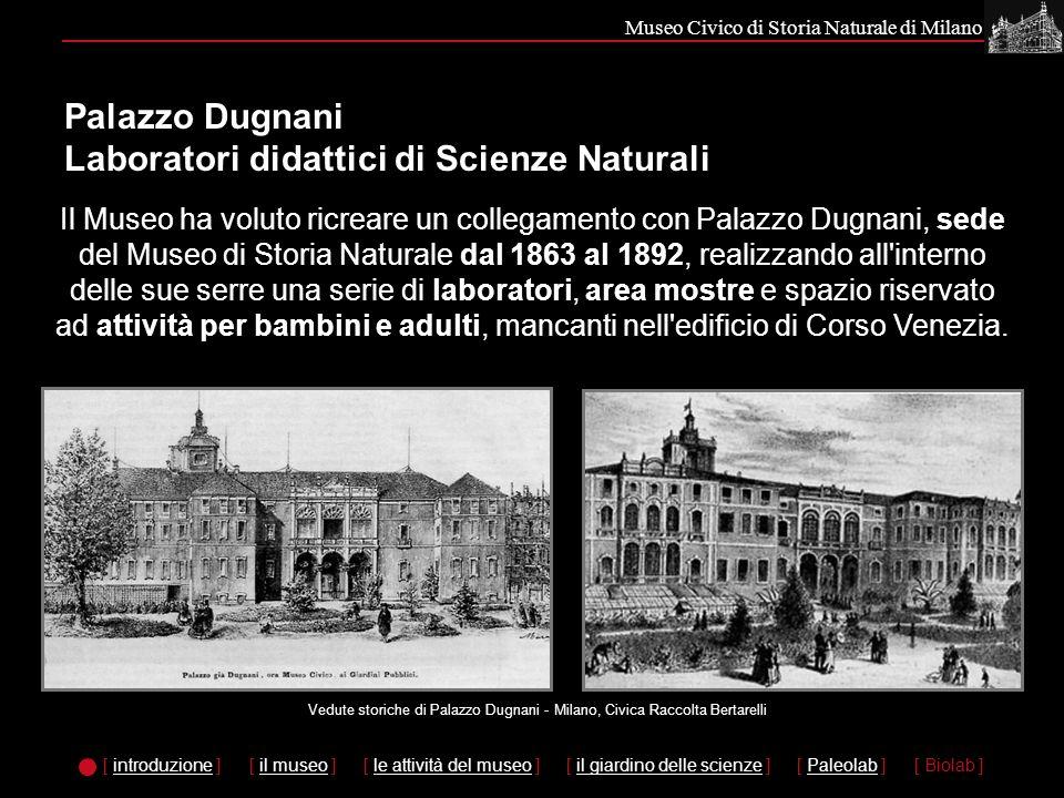 Palazzo Dugnani Laboratori didattici di Scienze Naturali
