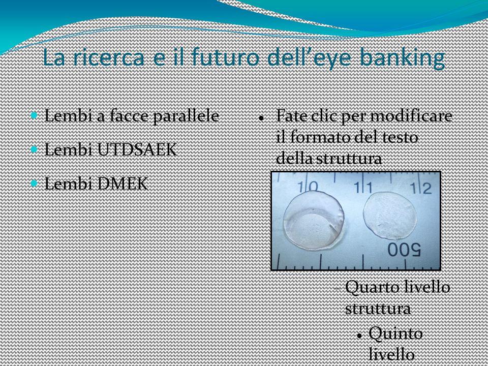 La ricerca e il futuro dell'eye banking