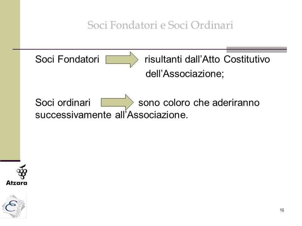 Soci Fondatori e Soci Ordinari