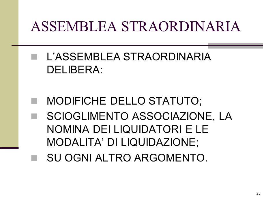 ASSEMBLEA STRAORDINARIA