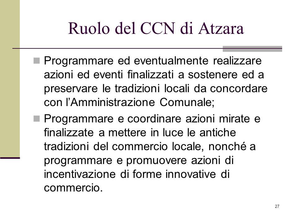 Ruolo del CCN di Atzara