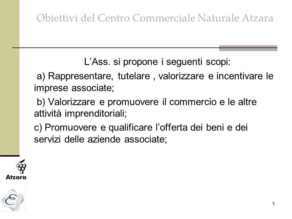 Obiettivi del Centro Commerciale Naturale Atzara