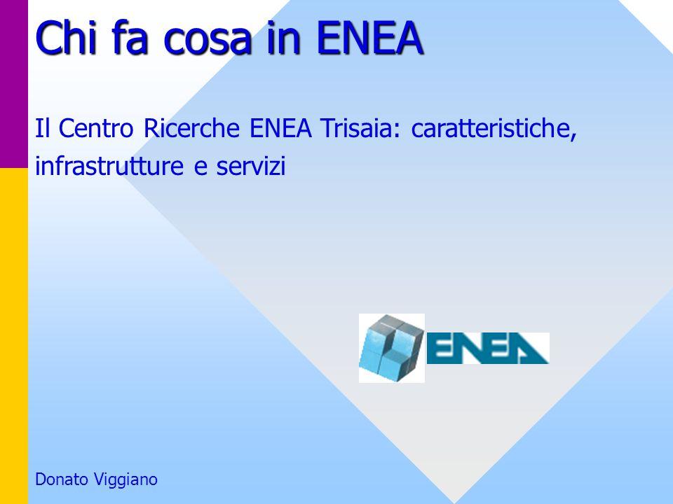 Chi fa cosa in ENEA Il Centro Ricerche ENEA Trisaia: caratteristiche,