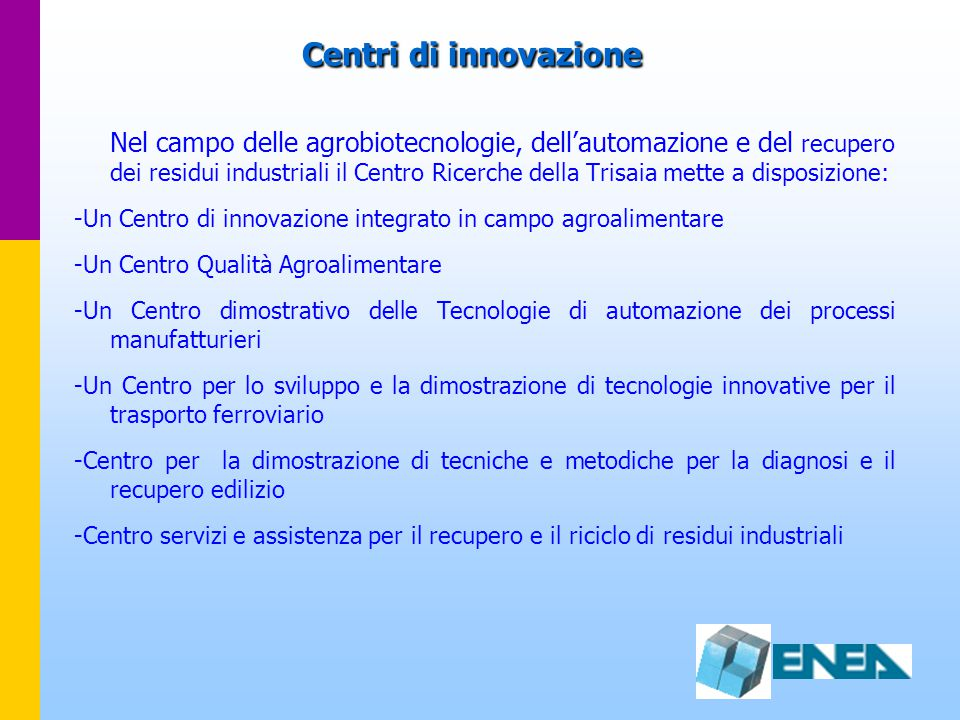 Centri di innovazione
