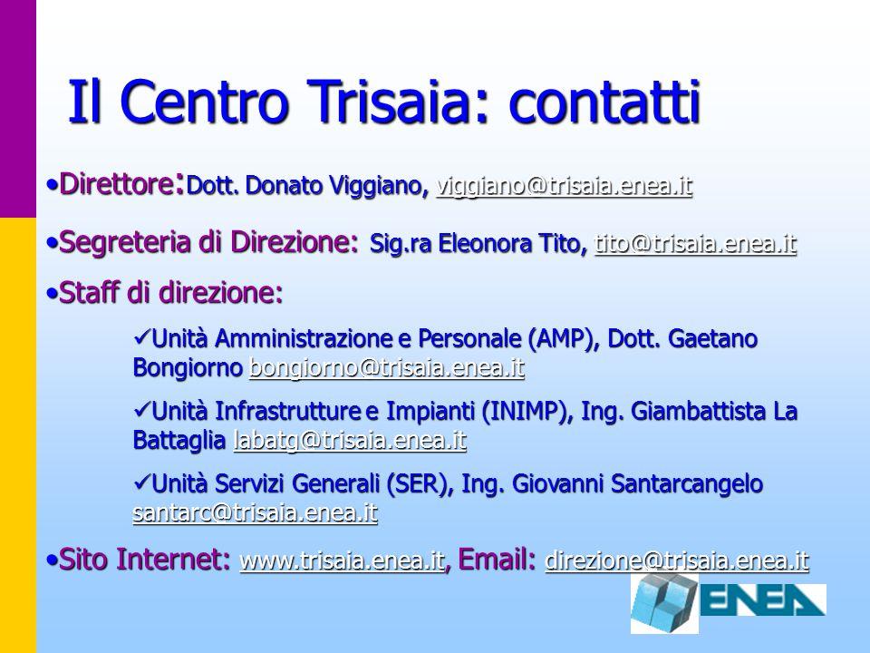 Il Centro Trisaia: contatti
