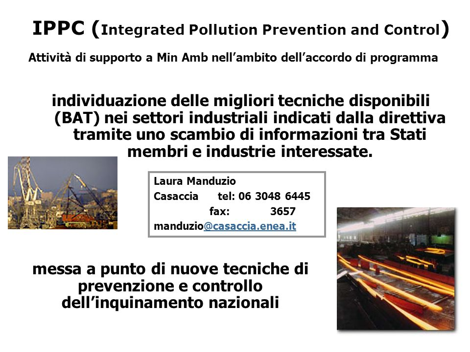 IPPC (Integrated Pollution Prevention and Control)