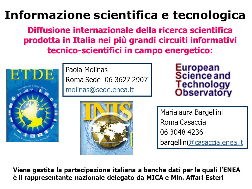 Informazione scientifica e tecnologica