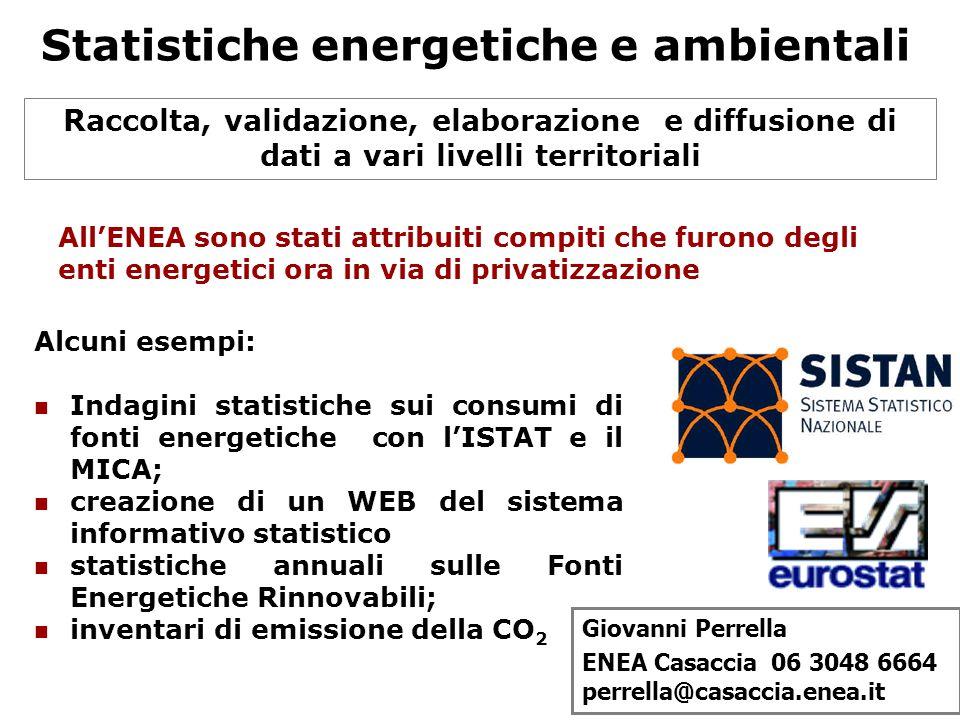 Statistiche energetiche e ambientali