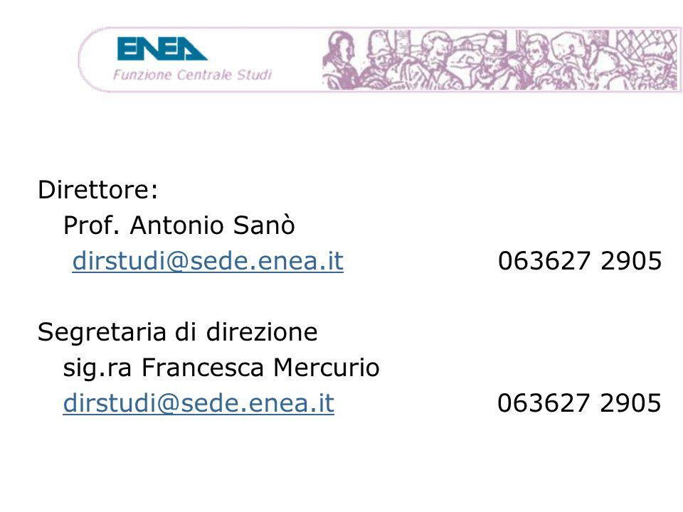 Segretaria di direzione sig.ra Francesca Mercurio