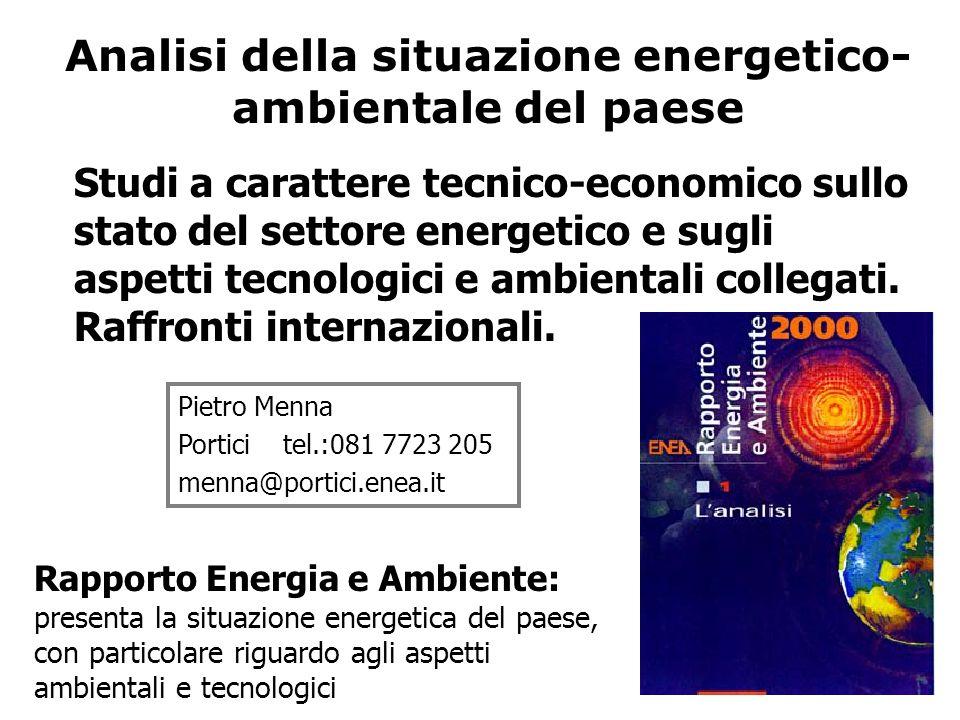 Analisi della situazione energetico-ambientale del paese