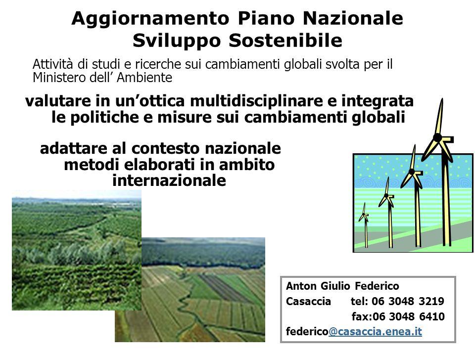 Aggiornamento Piano Nazionale Sviluppo Sostenibile