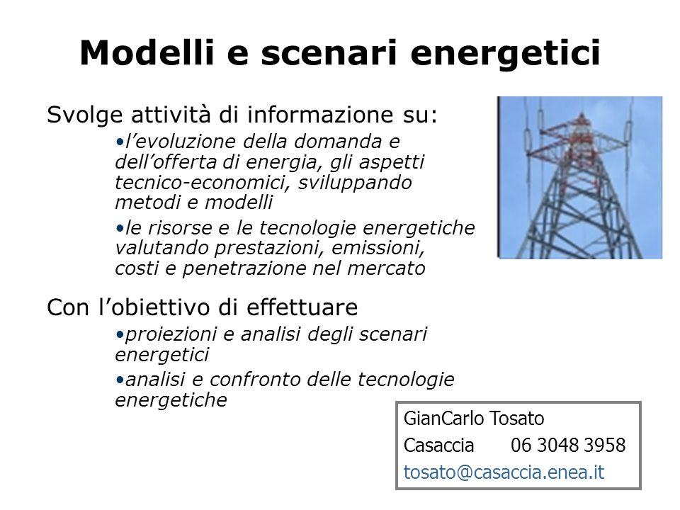 Modelli e scenari energetici