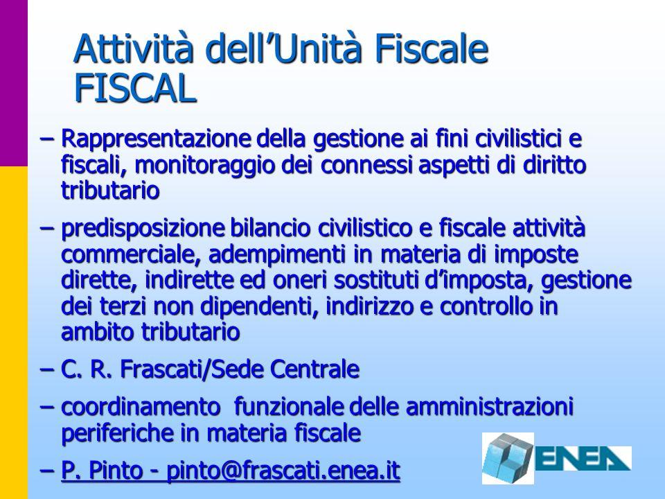 Attività dell'Unità Fiscale FISCAL
