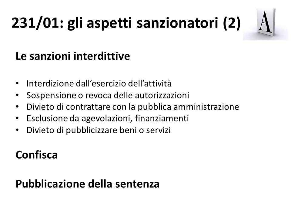 231/01: gli aspetti sanzionatori (2)