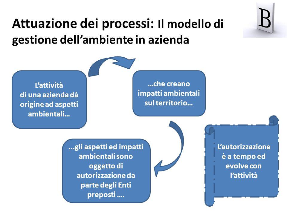 Attuazione dei processi: Il modello di gestione dell'ambiente in azienda