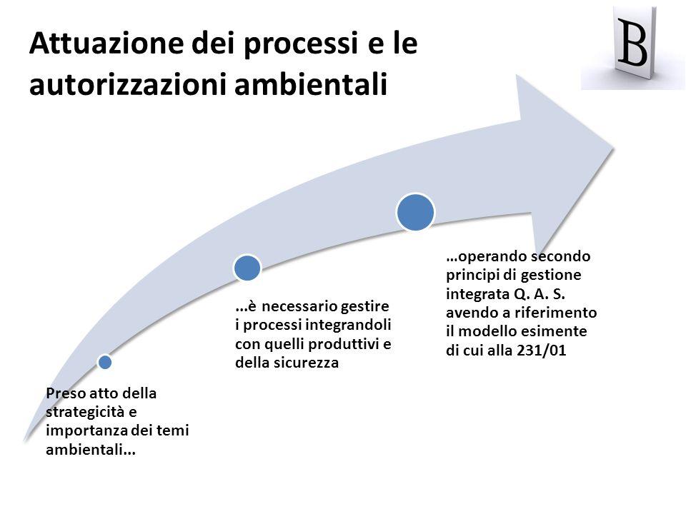 Attuazione dei processi e le autorizzazioni ambientali