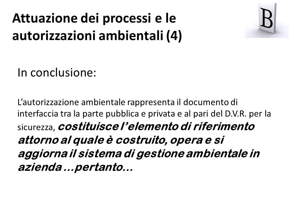 Attuazione dei processi e le autorizzazioni ambientali (4)