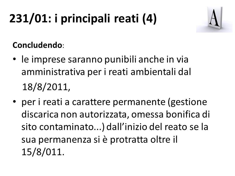 231/01: i principali reati (4)