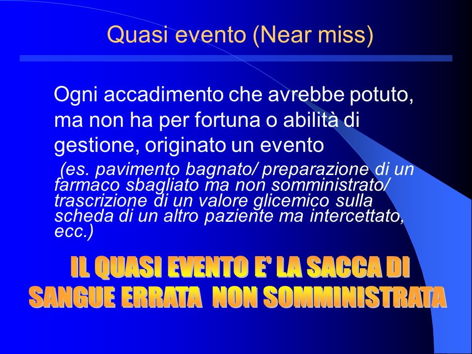 Quasi evento (Near miss)