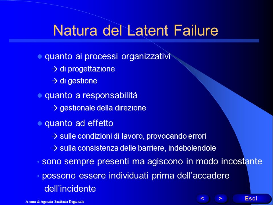 Natura del Latent Failure