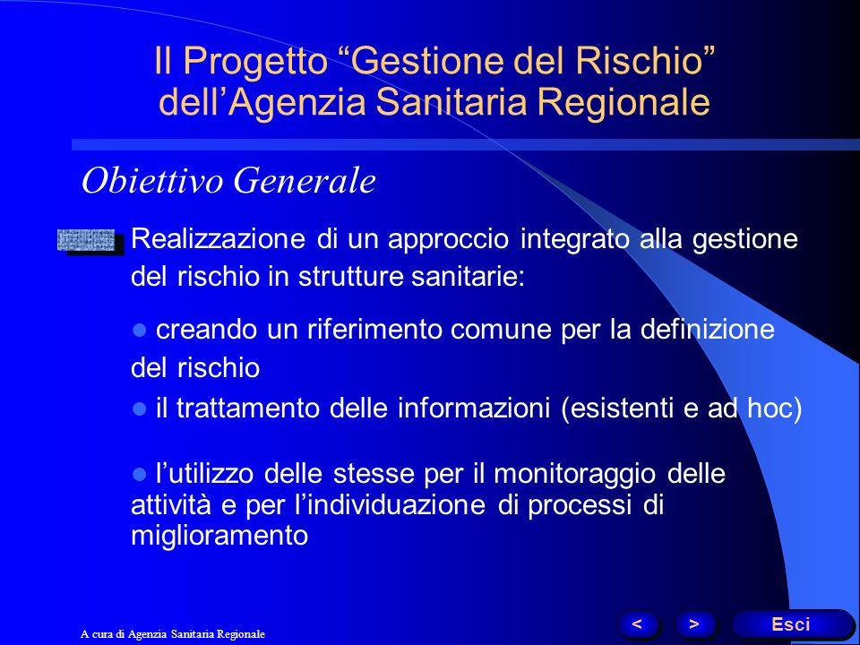 Il Progetto Gestione del Rischio dell'Agenzia Sanitaria Regionale