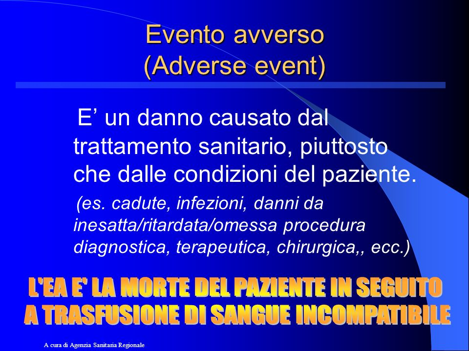Evento avverso (Adverse event)