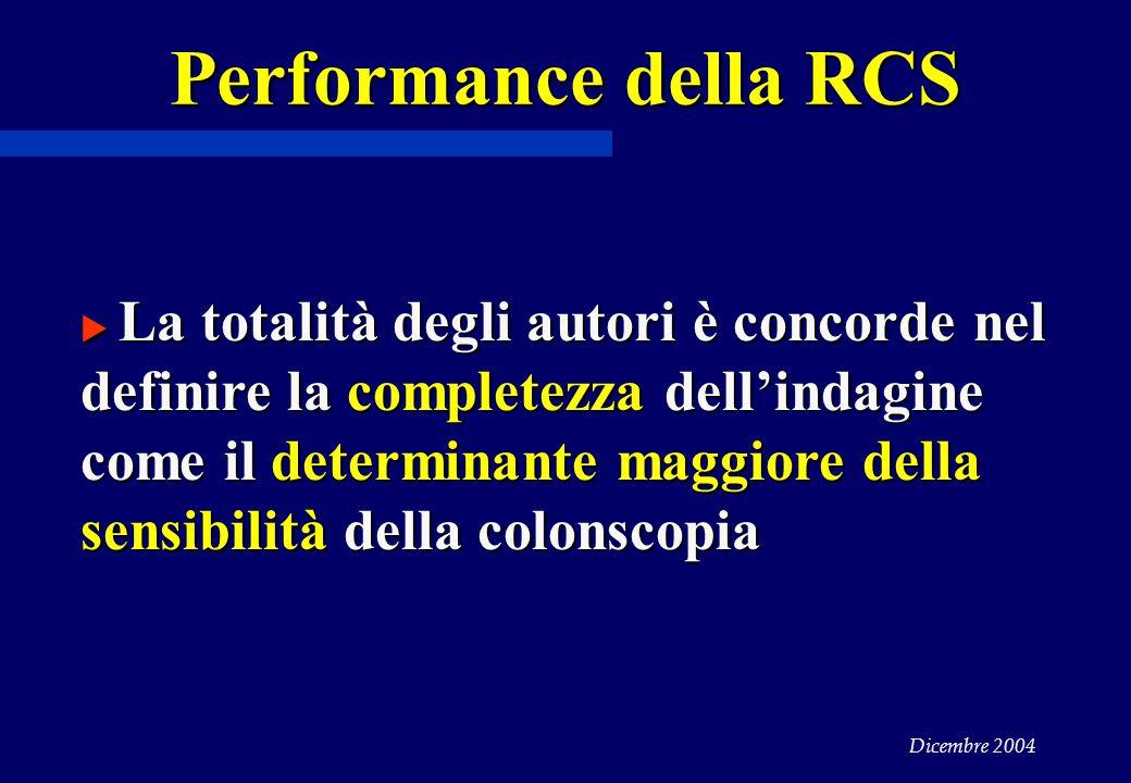 Performance della RCS