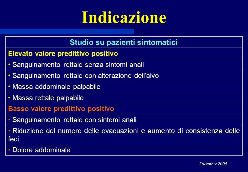 Studio su pazienti sintomatici