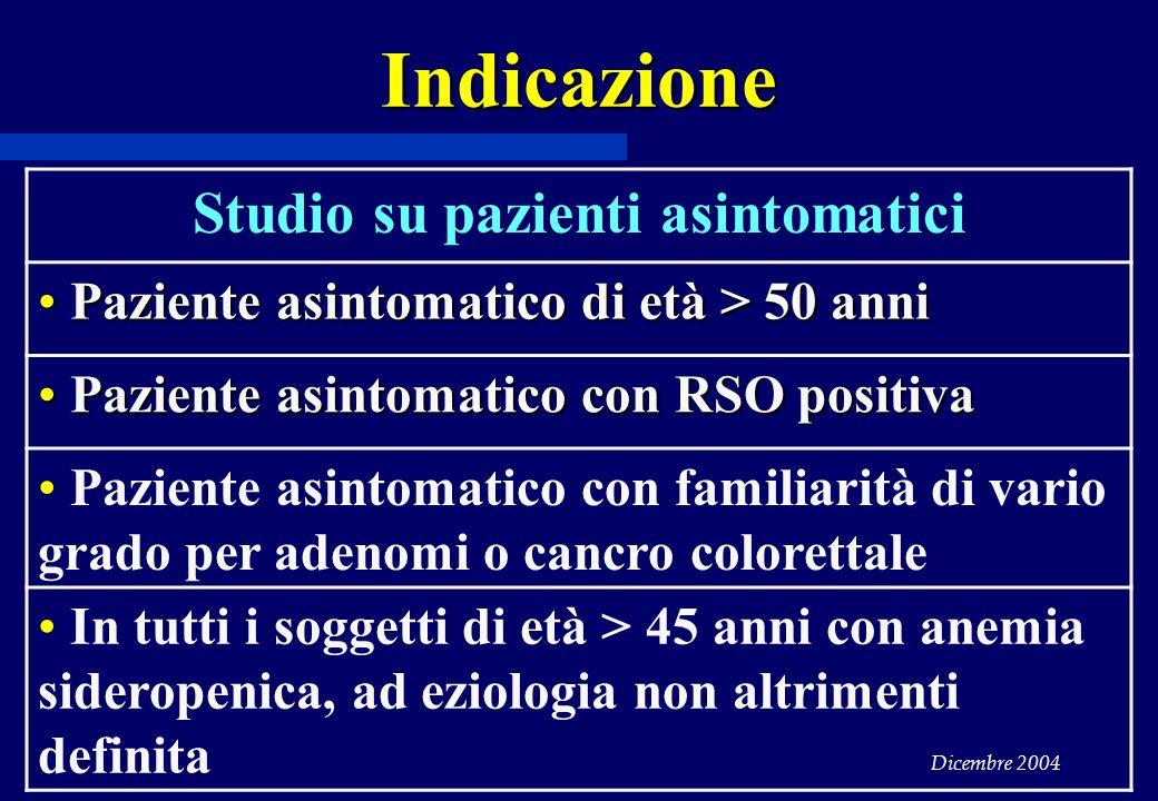 Studio su pazienti asintomatici