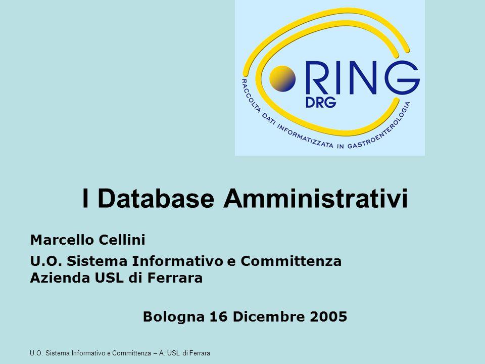 I Database Amministrativi