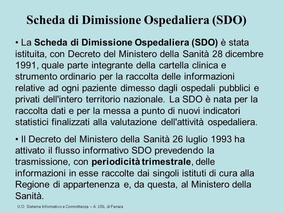 Scheda di Dimissione Ospedaliera (SDO)