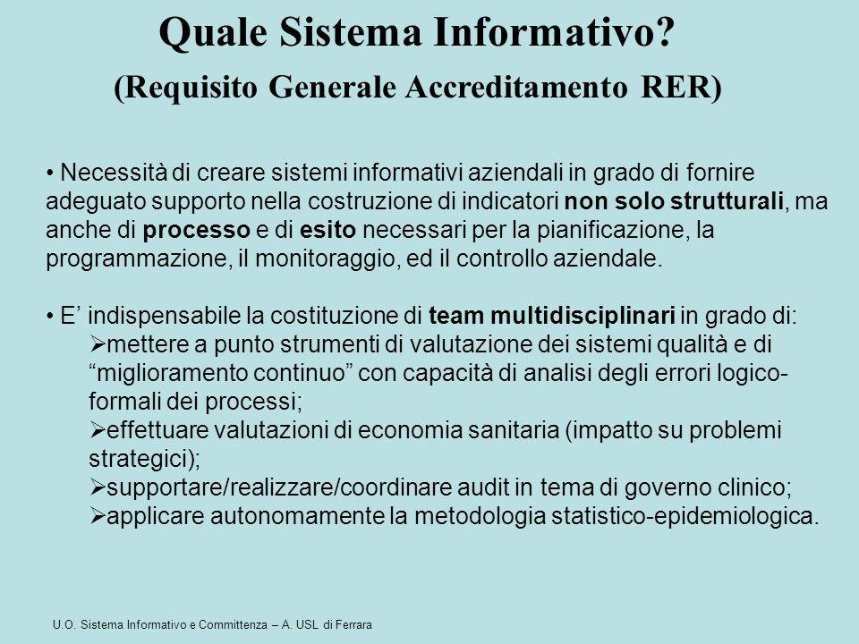 Quale Sistema Informativo (Requisito Generale Accreditamento RER)