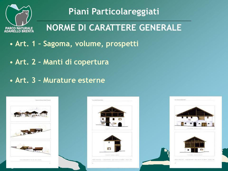 Piani Particolareggiati NORME DI CARATTERE GENERALE